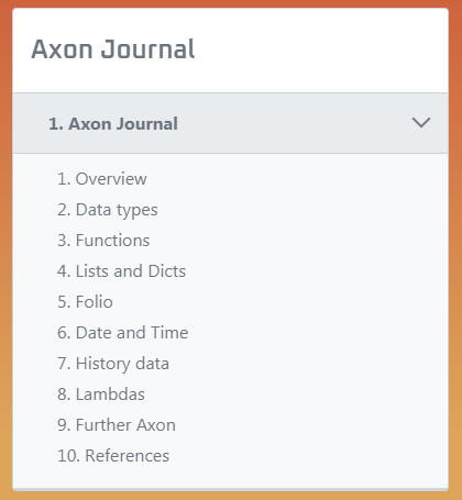 Axon Journal List